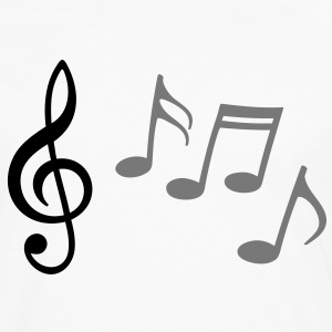 MUSIC SHEET TREBLE CLEF de SOL NOTES ;MUSICNOTES - Men's Premium Longsleeve Shirt