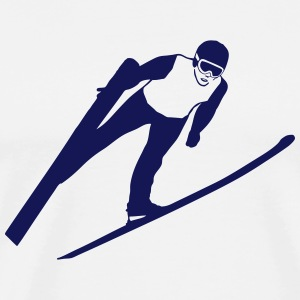 ski jumping - ski flying Manches longues - T-shirt Premium Homme
