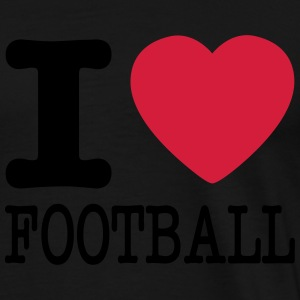 i love football / I heart football  2c Trousers & Shorts - Men's Premium T-Shirt