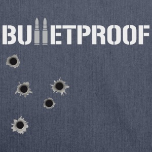 Bulletproof Holes - Schultertasche aus Recycling-Material