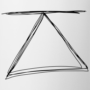 Triangle with line - Tasse