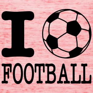 i love football with ball T-shirts - Vrouwen tank top van Bella