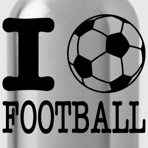 i love football with ball Long Sleeve Shirts - Water Bottle