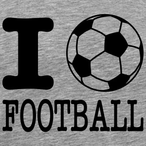 i love football with ball Long Sleeve Shirts - Men's Premium T-Shirt
