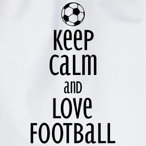 keep calm and love football Long Sleeve Shirts - Drawstring Bag