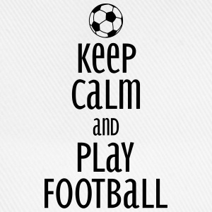 keep calm and play football Koszulki - Czapka z daszkiem