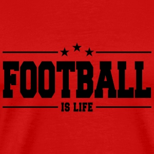 football is life 1 Langarmede T-skjorter - Premium T-skjorte for menn