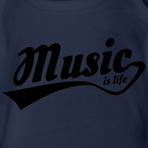 music is life Tee shirts - Body bébé bio manches courtes
