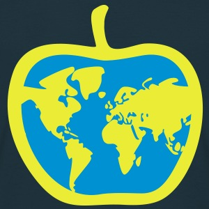 Apple, de wereld - Mannen T-shirt