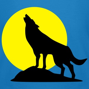 wolf and full moon - Men's Organic T-shirt