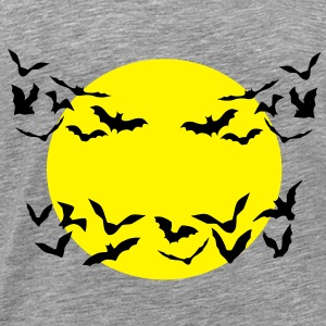 bats & full moon - Men's Premium T-Shirt