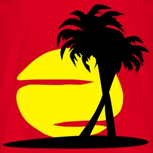Island Paradise - sun, palm trees, beach - Men's T-Shirt