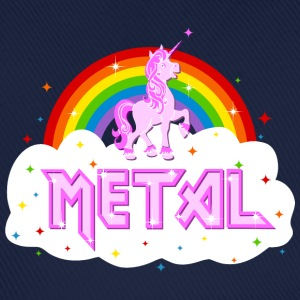 metal music heavy unicorn rainbow funny T-Shirts - Baseball Cap