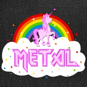 metal music heavy unicorn rainbow funny Shirts - Snapback Cap