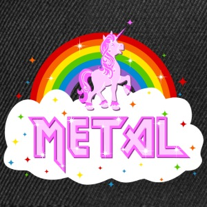 metal music heavy unicorn rainbow funny Hoodies & Sweatshirts - Snapback Cap