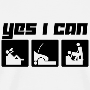 Yes I can (Vector) - Men's Premium T-Shirt