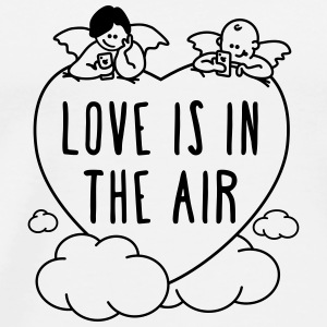 valentine - love is in the air 1c Phone & Tablet Cases - Men's Premium T-Shirt
