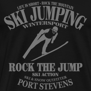 ski jumping - ski flying - skijumper Long sleeve shirts - Men's Premium T-Shirt
