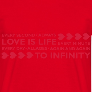 LOVE IS LIFE Tabliers - T-shirt Homme