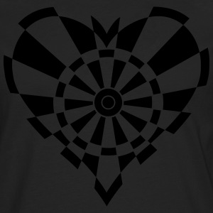 Dartboards heart T-Shirts - Men's Premium Longsleeve Shirt