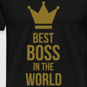 Best Boss in the World Tabliers - T-shirt Premium Homme