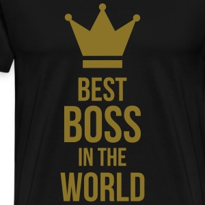 Best Boss in the World Kookschorten - Mannen Premium T-shirt