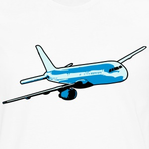 Plane flying airliner T-Shirts - Men's Premium Longsleeve Shirt