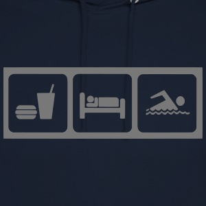 eat_sleep_schwimmen T-Shirts - Unisex Hoodie