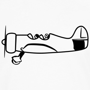 Propeller plane flying oldtimer T-Shirts - Men's Premium Longsleeve Shirt