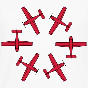 Plane flying propeller circular ring T-Shirts - Men's Premium Longsleeve Shirt
