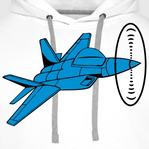 Aircraft jet jet propeller funny T-Shirts - Men's Premium Hoodie