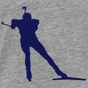 Biathlon - cross country skiing - skiing - ski Hoodies & Sweatshirts - Men's Premium T-Shirt
