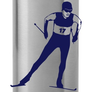 cross country skiing - skiing - ski Hoodies & Sweatshirts - Water Bottle