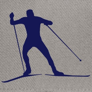 cross country skiing - skiing - ski T-Shirts - Snapback Cap