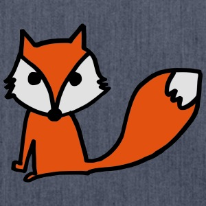 Cute Fox t-shirt - Shoulder Bag made from recycled material