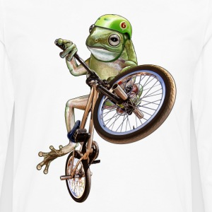 Blanc frog bmx Tee shirts - T-shirt manches longues Premium Homme