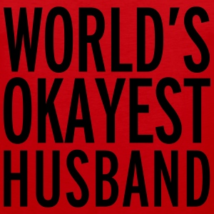 World's Okayest Husband  Gensere - Premium singlet for menn