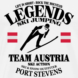 ski jumping - ski flying - skijumper Gensere - Premium T-skjorte for menn