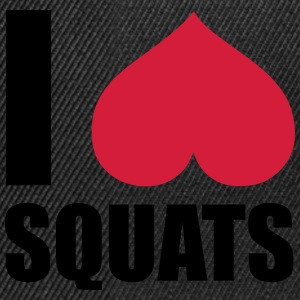 I Love Squats Hoodies & Sweatshirts - Snapback Cap
