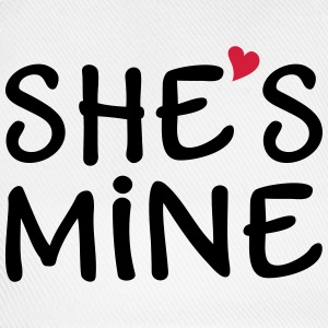 She's Mine I love you my Girlfriend Jeg elsker dig T-shirts - Baseballkasket