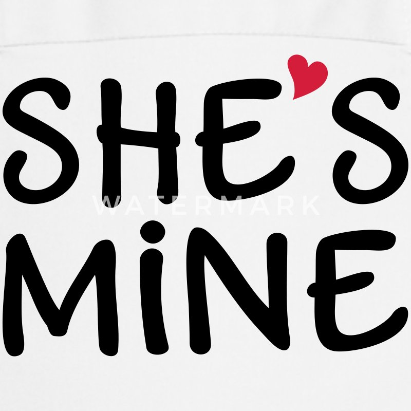 She is mine I love you my Girlfriend She's baby  Aprons - Cooking Apron