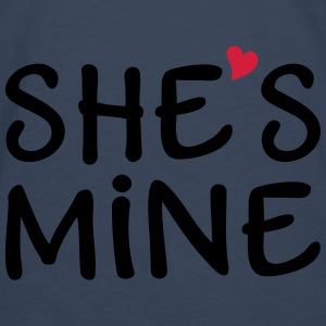 She's Mine I love you my Girlfriend Ich liebe Dich Pullover & Hoodies - Männer Premium Langarmshirt