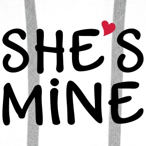 She's Mine I love you my Girlfriend Kocham cię Torby i plecaki - Bluza męska Premium z kapturem