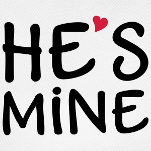 He's Mine I love you my Boyfriend Man Husband Boy Tops - Baseball Cap