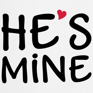 He's Mine I love you my Boyfriend Ti amo  Felpe - Grembiule da cucina