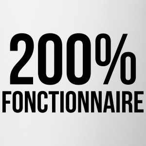 200% Fonctionnaire Tee shirts - Tasse