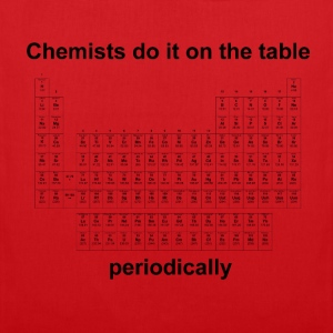 Chemists do it on the table - Herren T-Shirt rot - Stoffbeutel