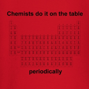 Chemists do it on the table - Herren T-Shirt rot - Baby Langarmshirt