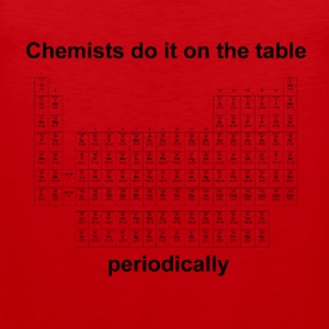 Chemists do it on the table - Herren T-Shirt rot - Männer Premium Tank Top