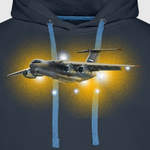 transport aircraft T-Shirts - Men's Premium Hoodie